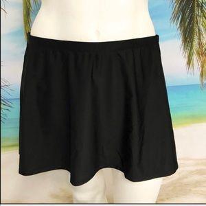 Plus Size {14 & 26} Black Skirted Swim Bottom